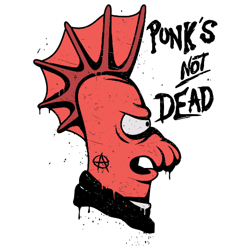 t-shirt Zoidberg Punk's not dead