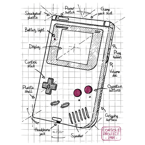 t-shirt Gameboy project