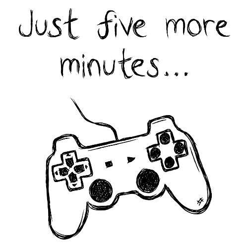t-shirt Jeux vidéo…encore 5 minutes