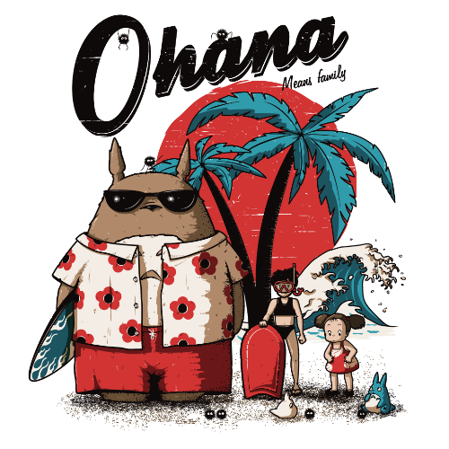 t-shirt Ohana signifie famille