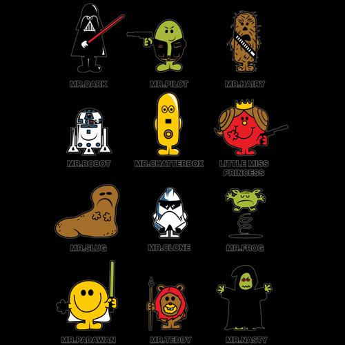 t-shirt Monsieur Madame Star Wars