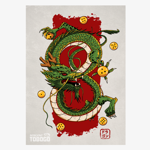 t-shirt Dragon Shenron – Carte A5