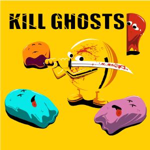 dessin t-shirt Pac man fantôme geek original