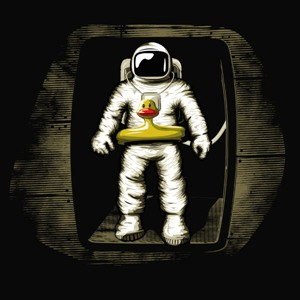 dessin t-shirt Astronaute ridicule geek original