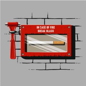 dessin t-shirt En cas d'incendie… geek original
