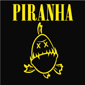 dessin t-shirt Piranha geek original