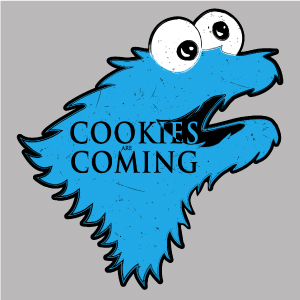 dessin t-shirt Cookies are coming geek original