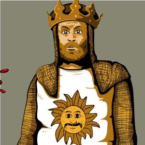 zoom t-shirt Le roi Arthur et le chevalier noir geek original