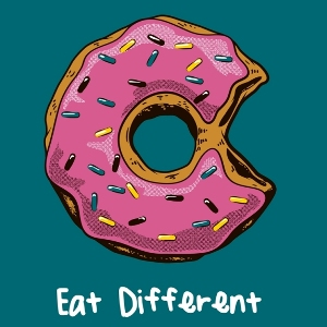 dessin t-shirt Donut – Eat Different geek original