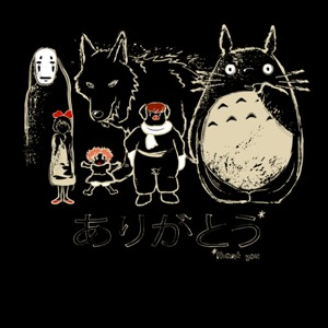 dessin t-shirt Hommage Miyazaki geek original