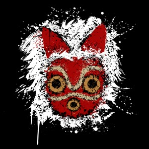 dessin t-shirt Masque Mononoke geek original