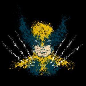 dessin t-shirt Wolverine peinture geek original