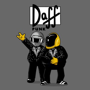 dessin t-shirt Duff Punk geek original