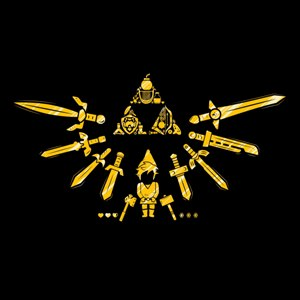 dessin t-shirt Triforce geek original