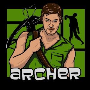 dessin t-shirt Daryl Dixon geek original