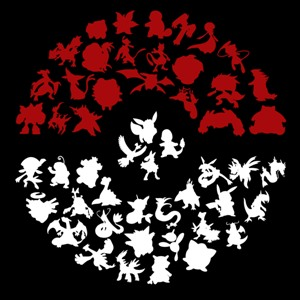 dessin t-shirt Tous les Pokemon geek original