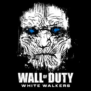 dessin t-shirt Call of Duty et les marcheurs blancs geek original