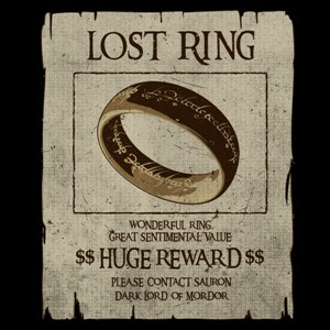 dessin t-shirt Le seigneur des anneaux et Sauron geek original