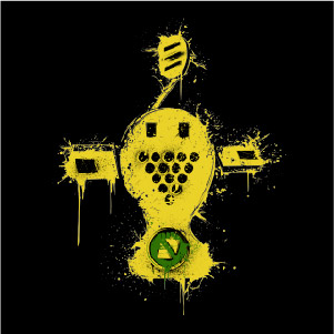 dessin t-shirt Jet Set Radio Future geek original