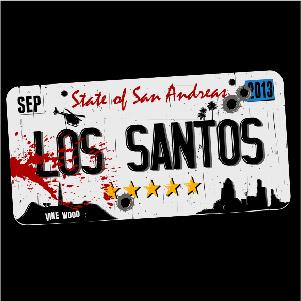 dessin t-shirt Los Santos GTA 5 geek original