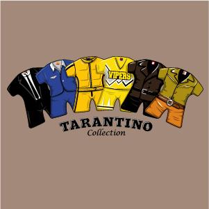 dessin t-shirt Tous les films des Tarantino geek original