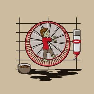 dessin t-shirt Zombie domestique geek original