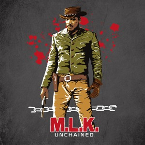 dessin t-shirt Martin Luther King Unchained geek original