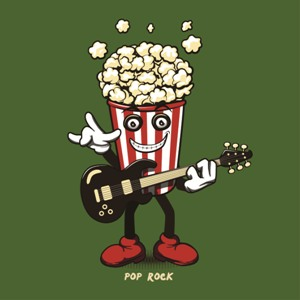 dessin t-shirt Pop corn rock geek original