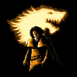 dessin t-shirt Jon Snow Dark Knight geek original