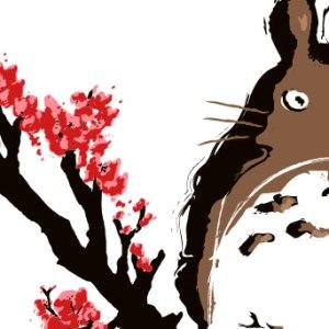 zoom t-shirt Totoro sur sa branche geek original