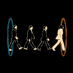 dessin t-shirt Abbey Road parody geek original