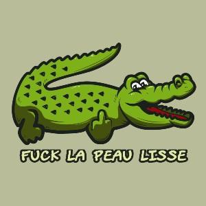 dessin t-shirt Lacoste la peau lisse geek original