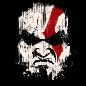 dessin t-shirt Kratos, le dieu de la guerre geek original