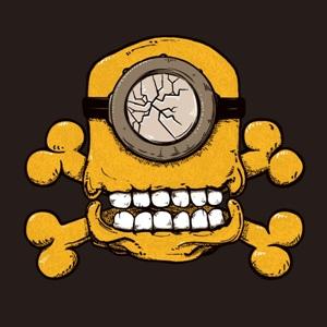 dessin t-shirt Tête de mort de Minion geek original
