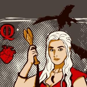 zoom t-shirt La reine Khaleesi geek original