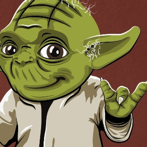 zoom t-shirt Yoda c'est plus fort que toi geek original