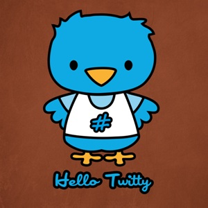 dessin t-shirt Hello Kitty versus Twitter geek original