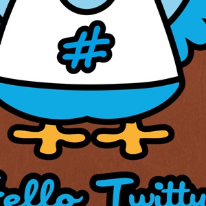zoom t-shirt Hello Kitty versus Twitter geek original
