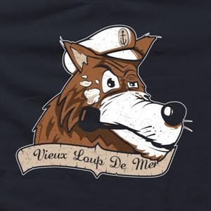 dessin t-shirt Vieux loup de mer geek original