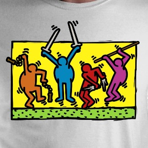dessin t-shirt Keith Haring et les Tortues Ninja geek original