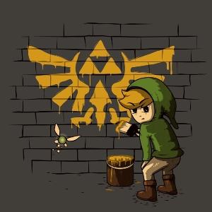dessin t-shirt Zelda et Banksy geek original