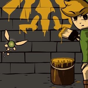 zoom t-shirt Zelda et Banksy geek original