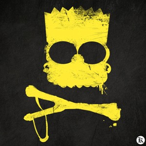 dessin t-shirt Bart Simpsons Pochoir geek original