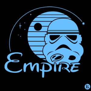 dessin t-shirt L'empire Walt Disney geek original