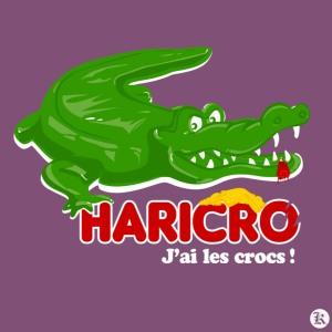 dessin t-shirt Haribo, j'ai les crocs geek original