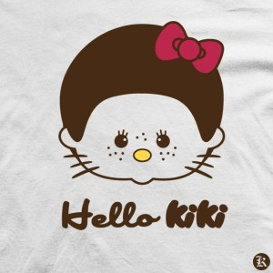 dessin t-shirt Hello Kitty, Hello Kiki geek original