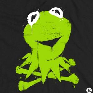 dessin t-shirt Kermit la grenouille geek original