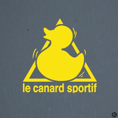 dessin t-shirt Le canard sportif geek original
