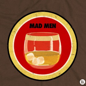 dessin t-shirt Mad Men & Lucky Strike geek original
