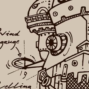 zoom t-shirt Les plans du Château de Miyazaki geek original